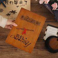 同学录毕业纪念册小仙女小学初中生高中生木盒古风创意木质通讯录