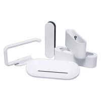 小米有品悦生活 卫浴五件套 3M强力粘胶肥皂牙刷纸巾架饰品手机架 白色