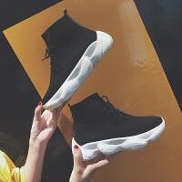 百搭嘻哈网红高帮鞋ins超火的运动鞋女韩版ulzzang原宿弹力袜子鞋