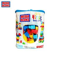 费雪美高积木80粒男孩女孩拼插儿童塑料大颗粒玩具1-2周岁 DCH55 60粒(蓝色)