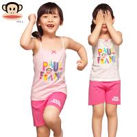 儿童家居服套装女童夏季薄款无袖吊带背心短裤套装宝宝睡衣