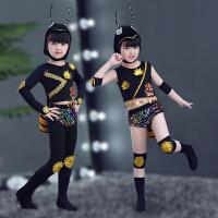 小蚂蚁表演服动物昆虫舞蹈服装套装儿童演出服女童舞蹈练功服