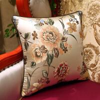 欧式美式中式花鸟抱枕沙发靠背靠垫床头靠包办公大号靠枕腰枕含芯