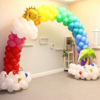 生日装扮装饰铝膜卡通气球周岁儿童派对主题彩虹拱门立柱布置用品