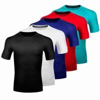 运动紧身衣男短袖T恤 夏篮球足球跑步田径训练健身服速干弹力上衣