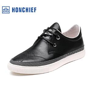 红蜻蜓旗下品牌  HONCHIEF  男鞋休闲鞋秋冬鞋子男板鞋KZA1031