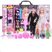 娃娃套装大礼盒别墅城堡女孩公主婚纱洋娃娃巴比音乐玩具 豪华音乐升级版(超108)
