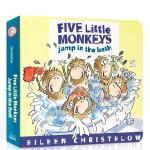 Five Little Monkeys Jump in the Bath 五只小猴子洗澡跳来跳去纸板书 英文原版绘本