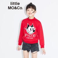 littlemoco秋季新品儿童卫衣男童女童FelixCat套头圆领棉卫衣