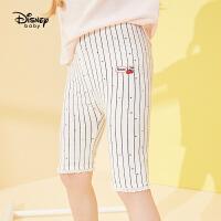 【2件3折价:29.7元,可叠券】迪士尼婴幼儿童装20夏新款梦幻童年女童针织蕾丝五分打底裤