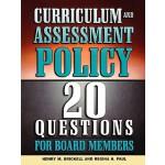 【预订】Curriculum and Assessment Policy: 20 Questions for Boar