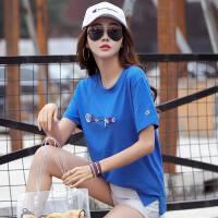 韩版时尚棉宽松大码女士绣花t恤上衣女装