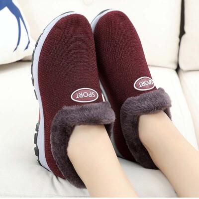 冬季老北京布鞋女棉鞋加绒加厚舒适软底中老年妈妈鞋保暖奶奶棉鞋