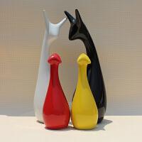 现代家居装饰摆件简约陶瓷工艺品小鹿创意结婚礼品客厅酒柜小摆件