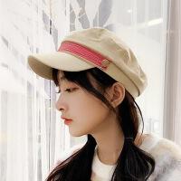 秋冬薄款八角帽女英伦时尚百搭复古贝雷帽网红帽子女韩版潮鸭舌帽