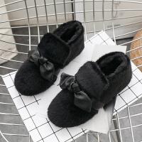 雪地靴女短筒2018新款冬韩版平底百搭学生加绒棉靴网红同款短靴潮