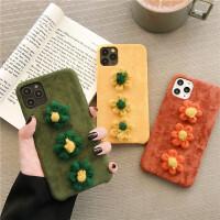 韩国ins灯芯绒布花朵iphone11promax苹果x手机壳xs秋冬新款苹果8plus创意7plus全包软壳6spl