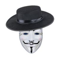 创意礼物情景万圣节V字仇杀队面具男全脸恐怖小丑面具白街舞鬼步舞鬼脸