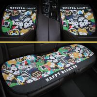 汽车坐垫三件套卡通单座无靠背四季通用方垫夏季可爱女士座垫