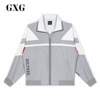 GXG男装 春季热卖商场同款新款时尚复古男士运动风拉链夹克外套潮