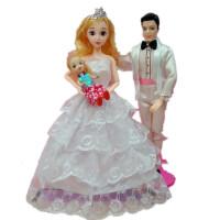 儿童玩具男巴比娃娃衣服套装换装芭比公主王子情侣新娘新郎摆件