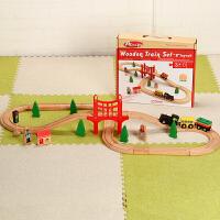 儿童木质托马斯小火车轨道车玩具木制火车70片矿山套装益智拼装 官方标配