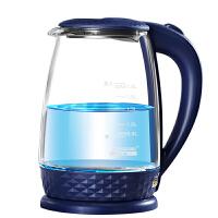 半球(PESKOE) 电水壶 304不锈钢电热水壶 1.8L高硼硅玻璃 烧水壶 1.8升玻璃水壶 养生水壶