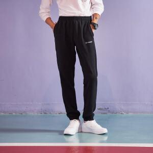 李宁卫裤男士训练系列长裤收口针织运动裤AKLK373