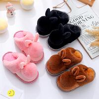 儿童棉拖鞋冬男童室内家用女宝宝防滑软底包跟中大童居家亲子拖鞋