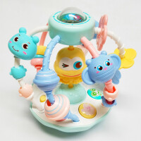 3-5-6-7-12个月婴儿力玩具青蛙摇铃三男孩两女宝宝音乐手抓球