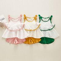 女童套装夏装儿童女吊带裙女孩短裤夏季时髦两件套