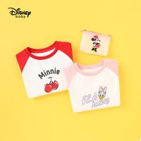【2件3折价:56.7】迪士尼童装2020新款女童春装休闲套头衫儿童上衣宝宝可爱卡通卫衣专柜同款