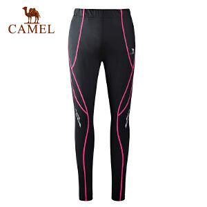 camel骆驼户外女款弹力跑步长裤 透气轻薄小脚裤