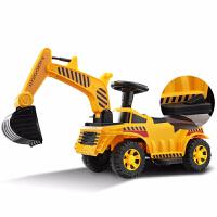 儿童玩具电动挖掘机挖土机可坐男孩宝宝滑行脚踏车工程车充电 官方标配