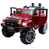 儿童汽车可坐人双人儿童电动四轮汽车四驱越野带遥控可坐人玩具车超大号充电童车ZQ159 +软轮