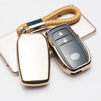 适用丰田钥匙包套汉兰达RAV4荣放车钥匙扣壳皇冠普拉多埃尔法男女