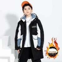 【券后预估价:279元】儿童羽绒服男童中长款加厚童装中大童男孩冬装白鸭绒羽绒外套2063