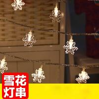室内防水 LED彩灯闪灯串灯新年圣诞装饰雪花小彩灯婚庆摄影求婚