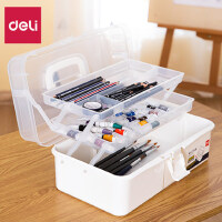 得力美术工具画画美甲师专用多功能画箱用品文具小学生收纳工具箱