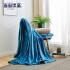 当当优品 午后暖阳防静电法兰绒毛毯盖毯200*230cm 雾霾蓝