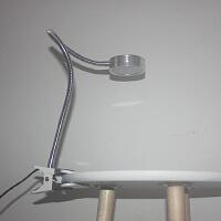 夹子式工作台灯LED7W大功率加长杆软管500MM铝头灯亮节能灯