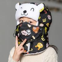 冬天儿童帽子男童女童冬季小孩雷锋帽护脖加厚保暖棉帽防风护耳帽