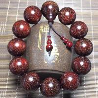印度小叶紫檀手串108颗金星高油密佛珠红木2.0男女情侣手链中秋节礼物品