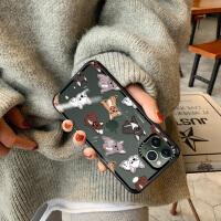 iPhone11手�C�ぬO果11Pro max玻璃透明潮11超薄全包maxPro可�劭ㄍ�ipone呆萌斗牛犬原����性��意P