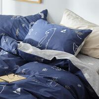 小清新床上四件套全棉纯棉公主风床单被套被子卡通三件套床上用品定制