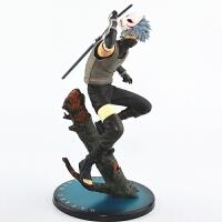 卡卡西手办模型雷切蹲姿摆件鸣人疾风传公仔