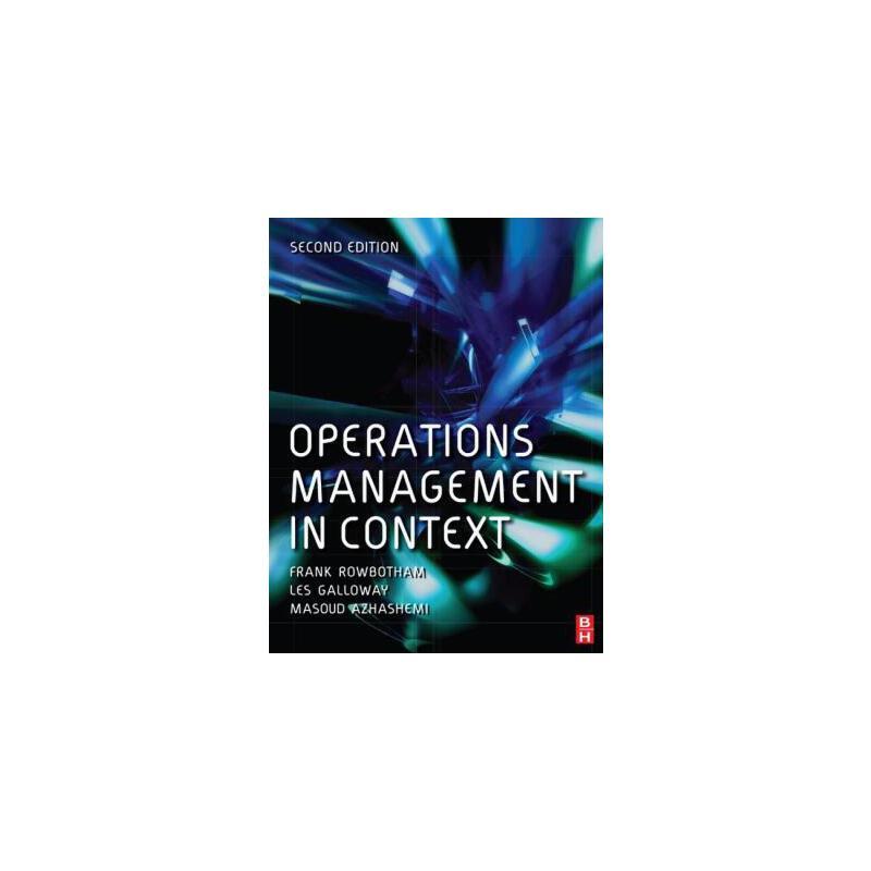 【预订】Operations Management in Context 预订商品,需要1-3个月发货,非质量问题不接受退换货。
