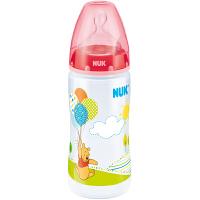 NUK 宽口PP维尼奶瓶300ml 0-6个月硅胶中圆孔奶嘴