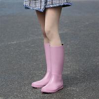 夏季柔软轻便时尚雨靴女长筒水鞋高帮防水胶鞋可爱高筒雨鞋女