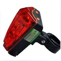 激光尾灯山地车灯单车自行车尾灯安全灯骑行装备配件 激光灯